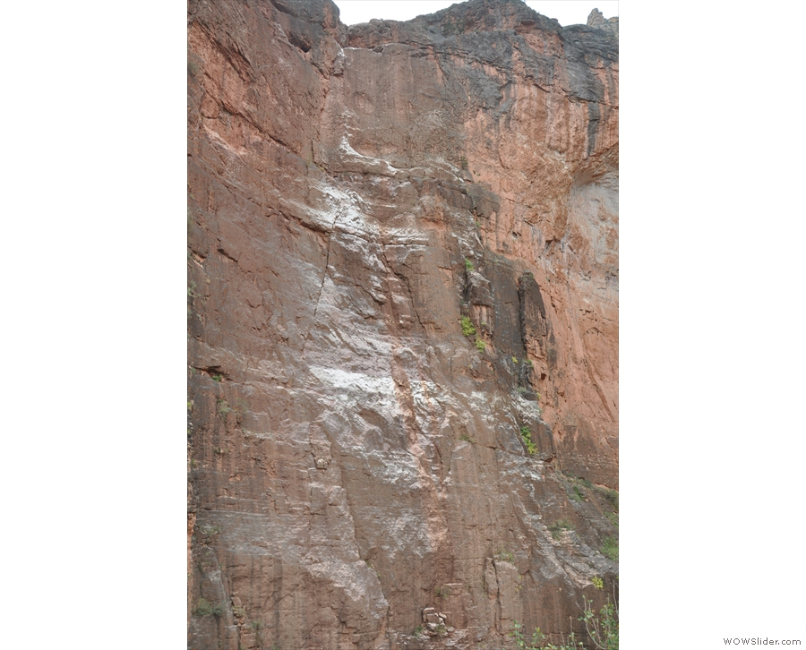I was fascinated by (but largely ignorant of) the geology. What are those white sections?