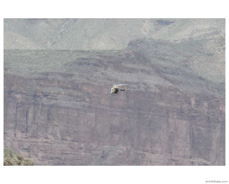It's the Grand Canyon National Park Service helicopter! Imagine flying that for a day job!