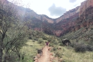 Another look back, with the trail pointing directly at the trailhead on the South Rim.