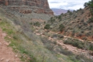 I'm back at the last big switchback from my descent. This is the view from the middle.