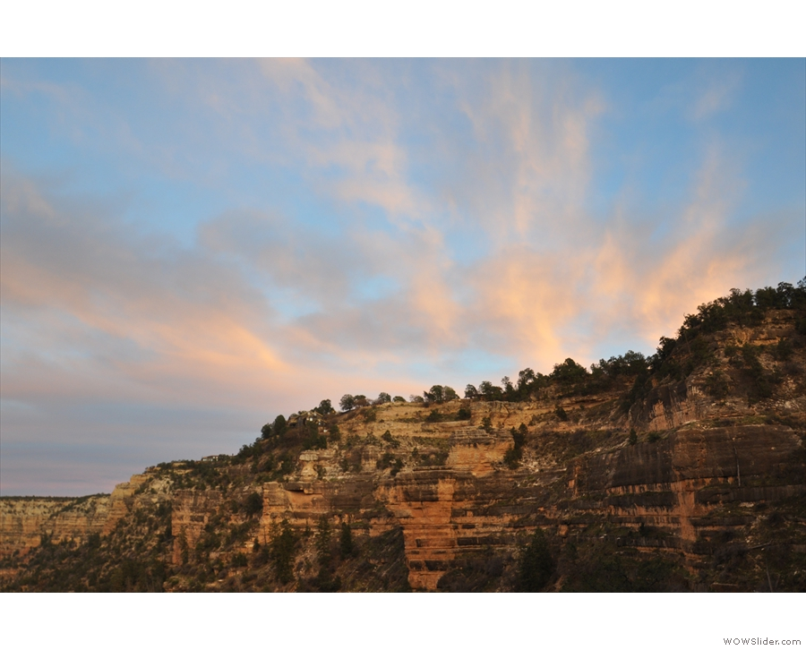 ... side of the canyon and closer to hand on the South Rim.