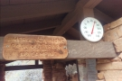 The thermometer reads 58°F (14°C), only slightly warmer than on the way down.