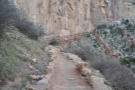 The view back along the lower reaches of the switchbacks...