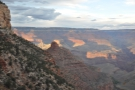 By now, the evening sunlight is picking out the colours on the north side of the canyon...