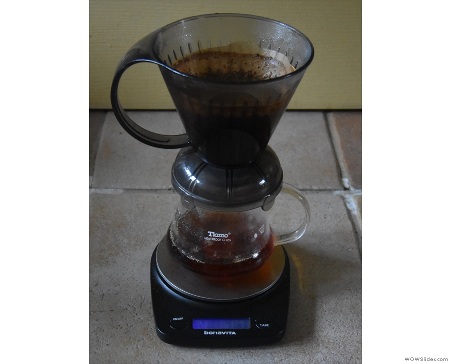 ... then put the Clever Dripper on top of your mug...