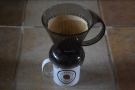 ... put the Clever Dripper on the top of your mug. This will drain the water into the mug.
