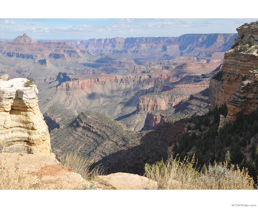 The view towards the eastern reaches of the Grand Canyon, where I was headed next.