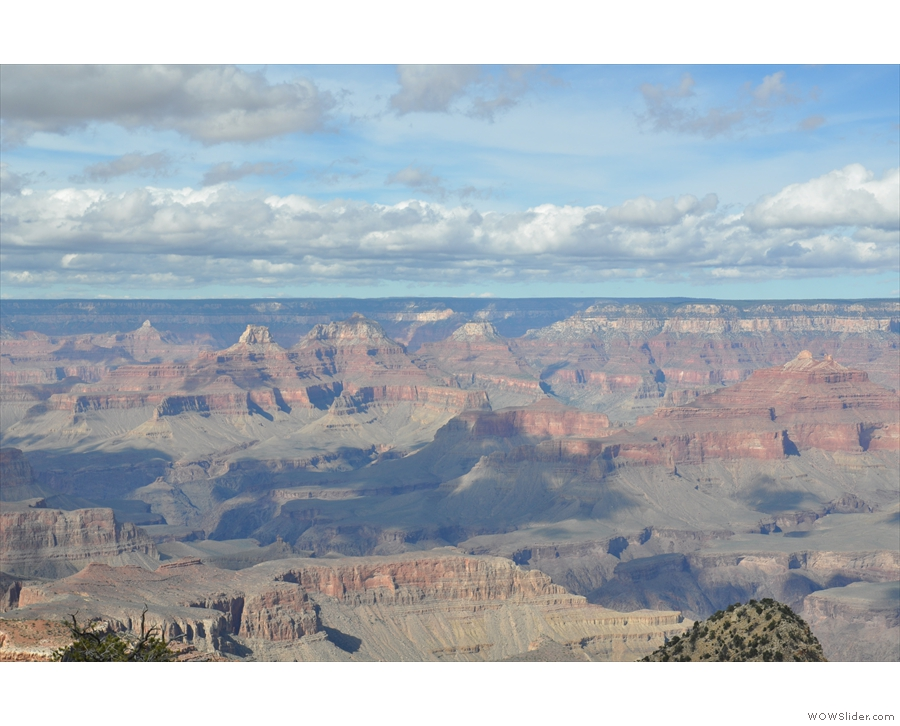 Lifting my gaze, this is the view across the Grand Canyon to the North Rim, with some...