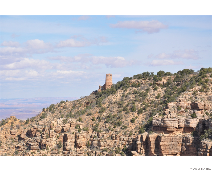 ... Desert View Watchtower, which marked the end of my drive along Desert View Drive.
