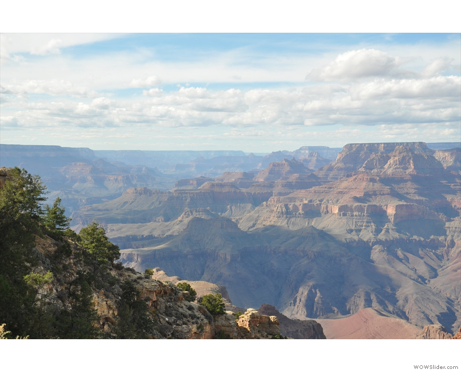 The view to the northwest, looking at the multiple layers of erosion over the ages.