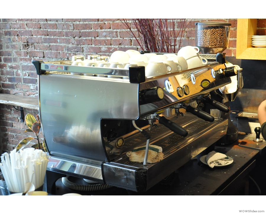 The business end of the La Marzocco