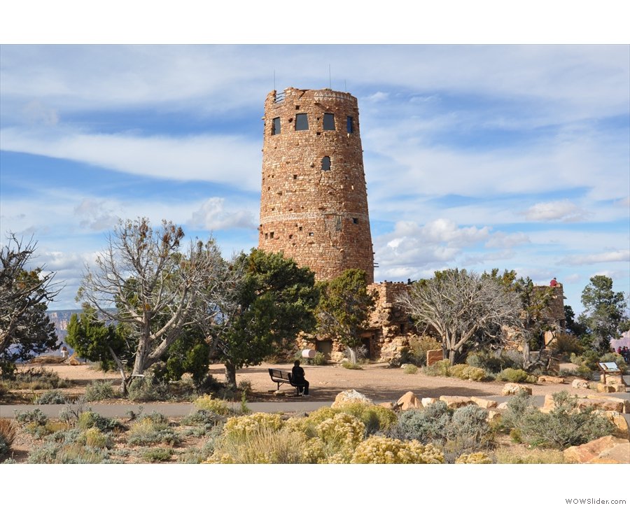 My final stop before heading back to Phoenix: Desert View Watchtower. It's a deceptive...