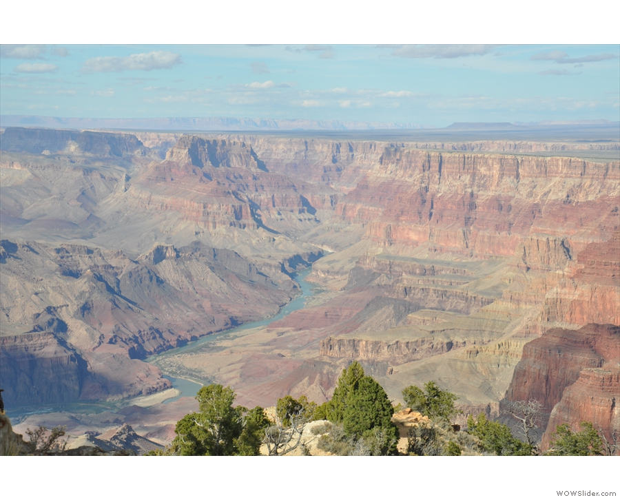 ... where the Colorado River comes into view. Scratch what I said in the previous...
