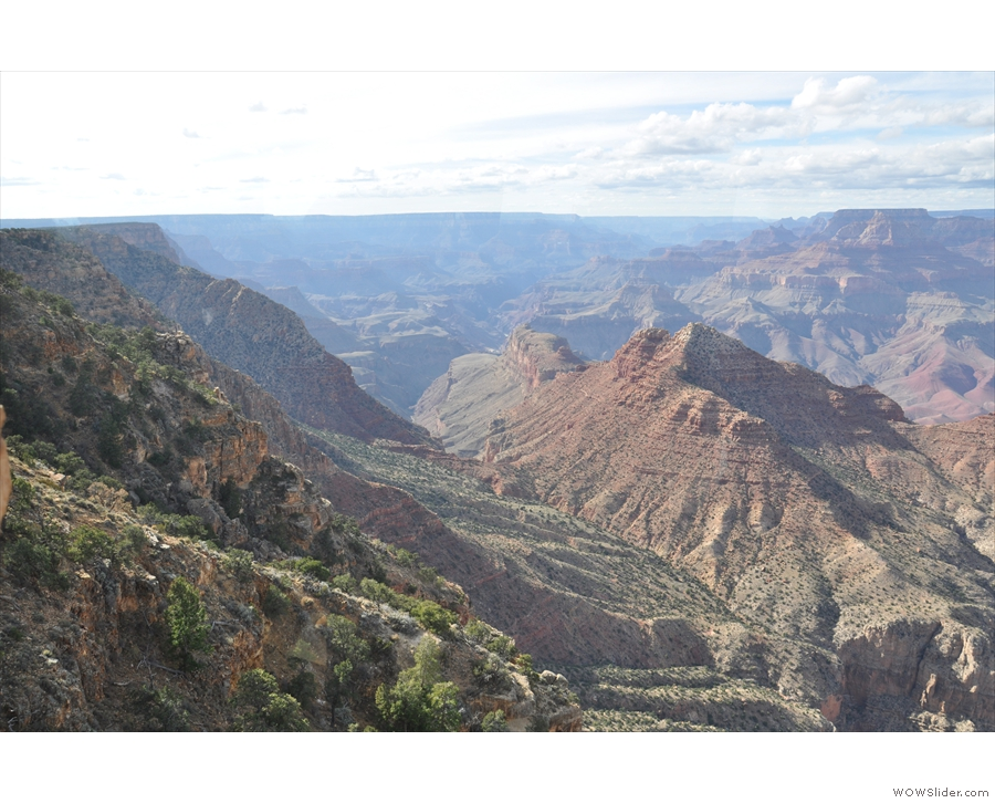 The view looking west along the Grand Canyon, where I spent the previous two days...