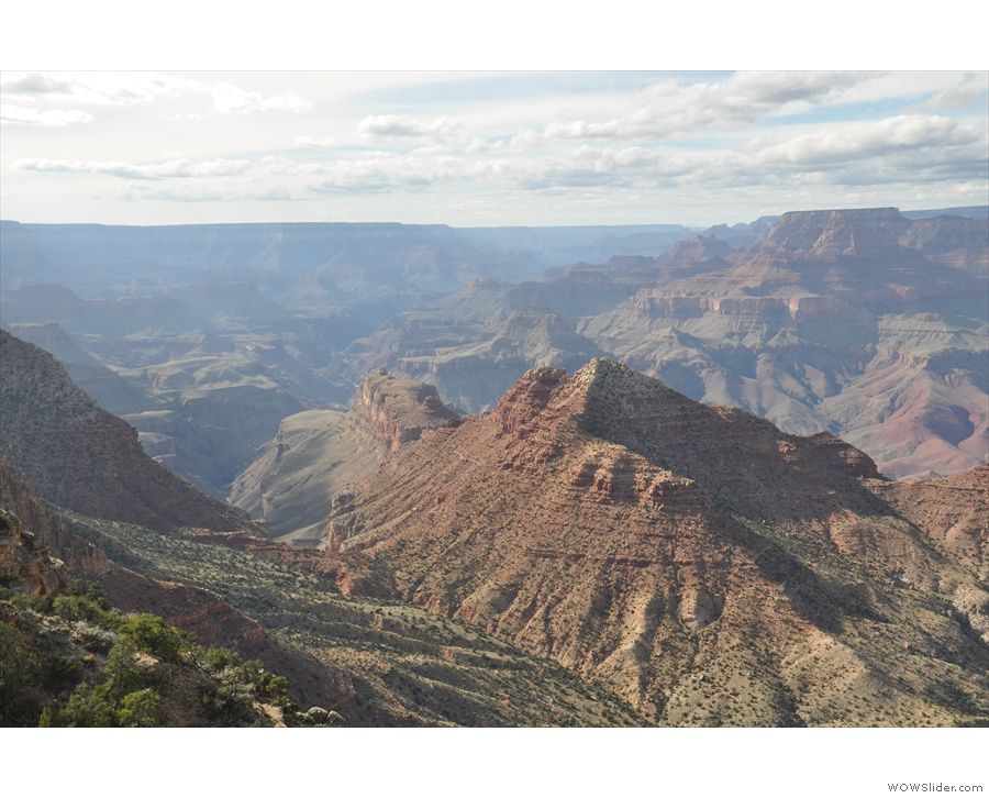 ... along the Grand Canyon, and a final view of that ridge which has been fascinating me!