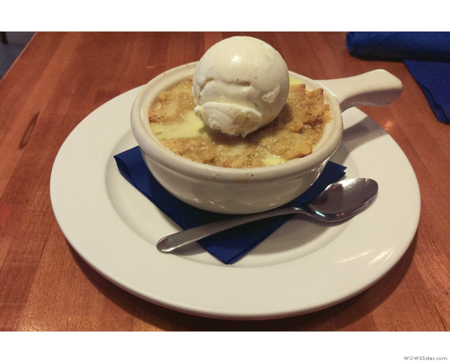 Instead I had an apple cobbler at a nearby restaurant.