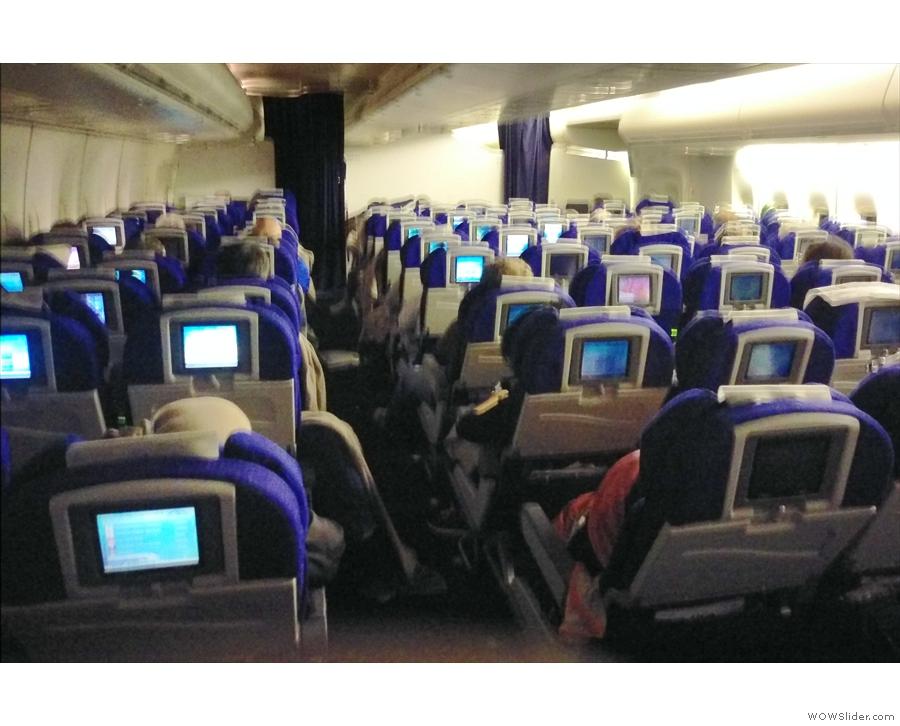 World Traveller, aka economy, in the back of my Boeing 747...