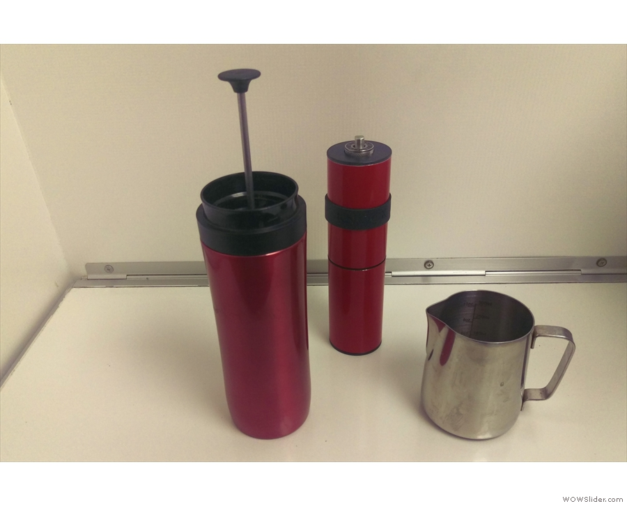 ... most people went to sleep, I stayed up, aided by the coffee I made in my Trave lPress.