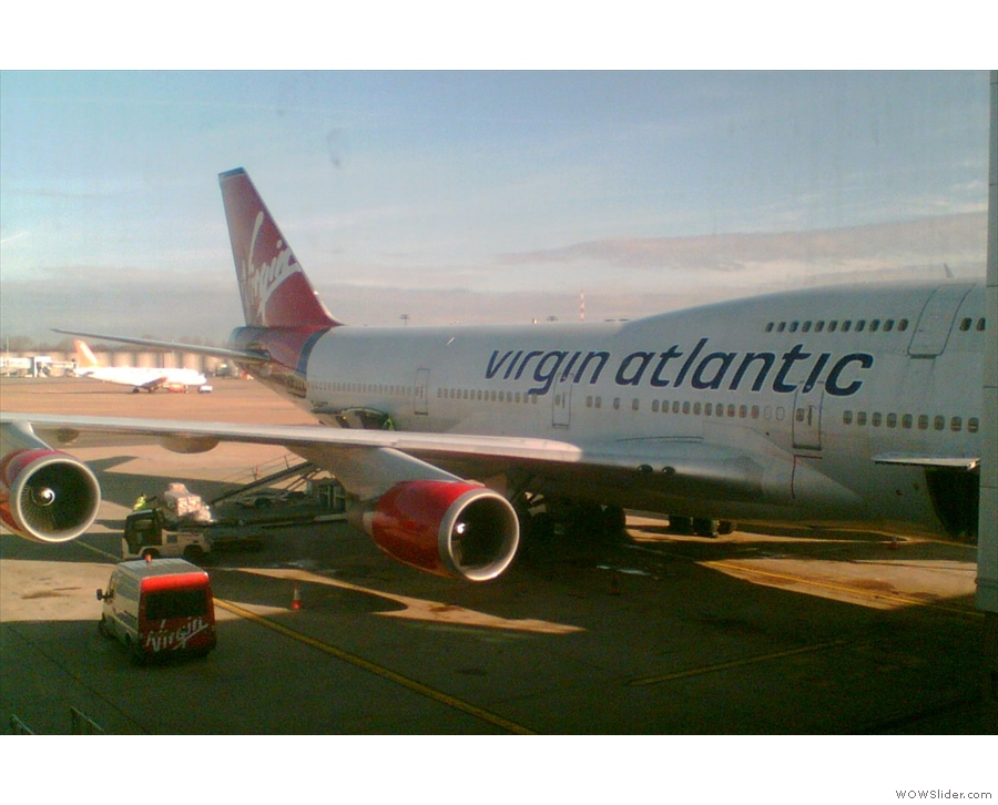 The earliest picture (of mine) of a Boeing 747 is from 2009. It's a Virgin Atlantic 747...