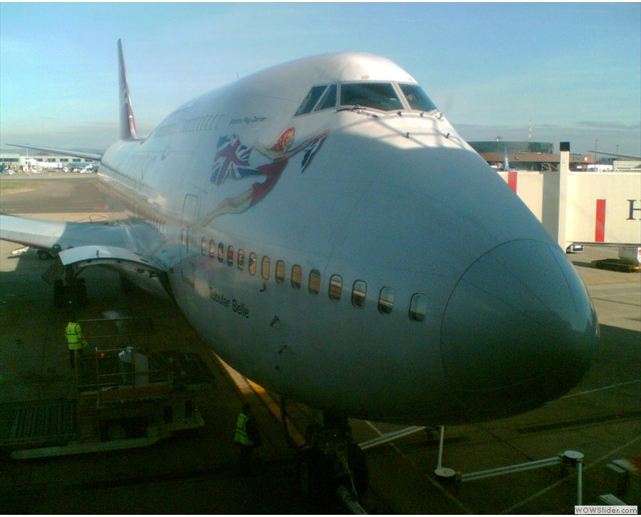 ... called 'Tubular Belle', on the stand at Gatwick, waiting to take me to Barbados.