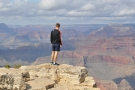I'm not the only one taking in the views, although he's a lot braver than me!