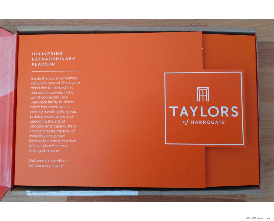 It was a very special delivery from Taylors of Harrogate, or, more precisely, from...