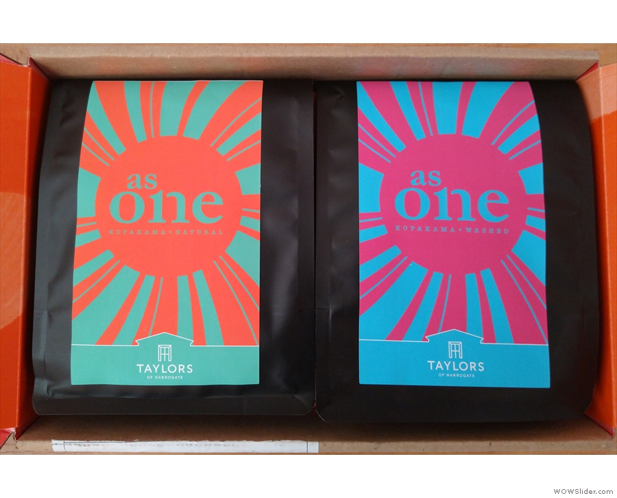... Taylors Discovery and its two As One coffees from Rwanda. It's the same microlot...