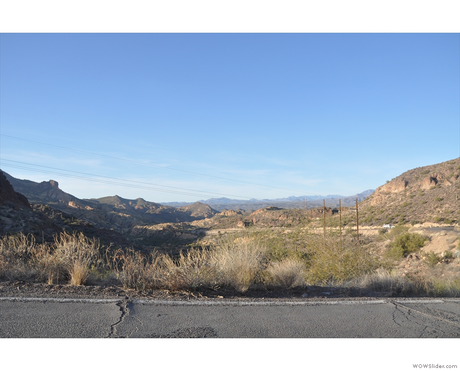 ... before climbing through the Superstition Mountains...