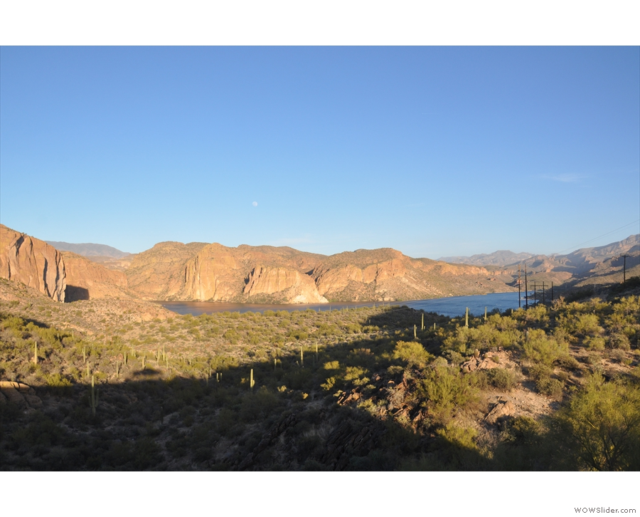 ... to look out over Canyon Lake, another reservoir on the Salt River.