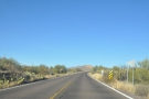 However, that's the eastern end. At the western end, the Apache Trail starts off flat...