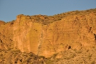 The evening light does look gorgeous on the cliff face, although that meant it would be...