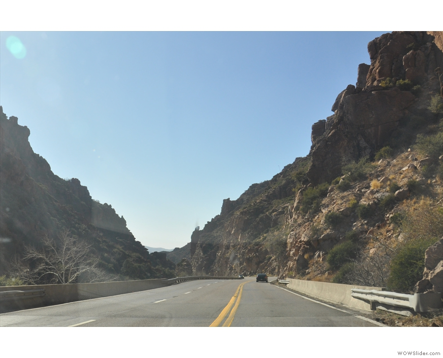 I didn't get many photographs through the mountains. This is from US 60, heading west...