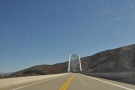 On the road again, heading south over the Roosevelt Lake Bridge. I could have...