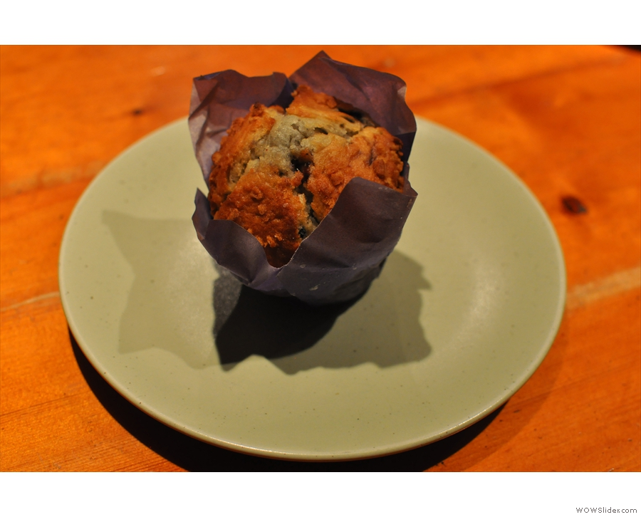 I also had this lovely muffin :-)
