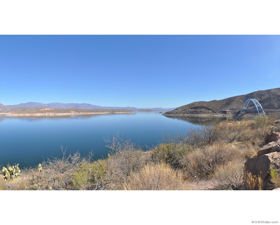 First stop: Theodore Roosevelt Lake, the reservoir at the eastern end of the Apache Trail.
