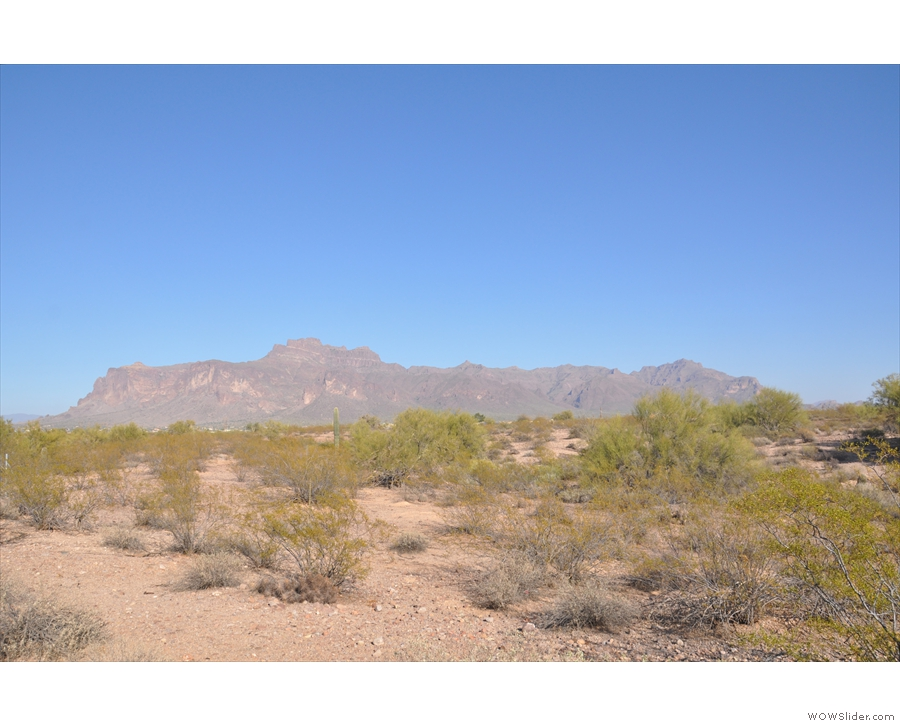 To get to the Apache Trail, I had to get around these mountains which meant driving...
