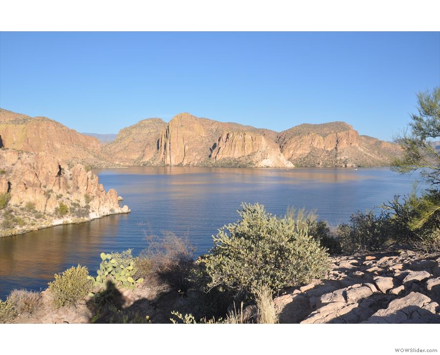 ... near the top, so I could look across to where the Salt River flows into the lake.