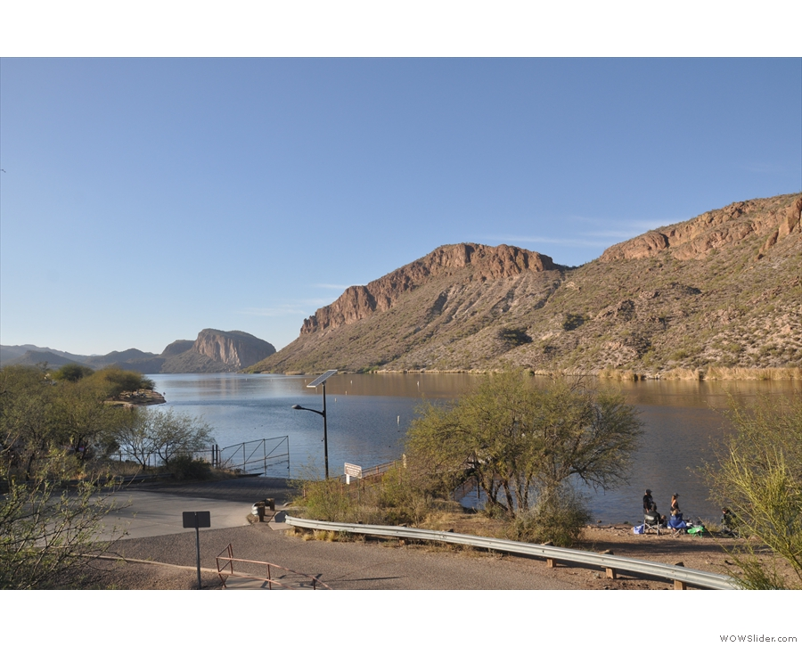 I stopped just after crossing the second bridge at the Canyon Lake Campground...