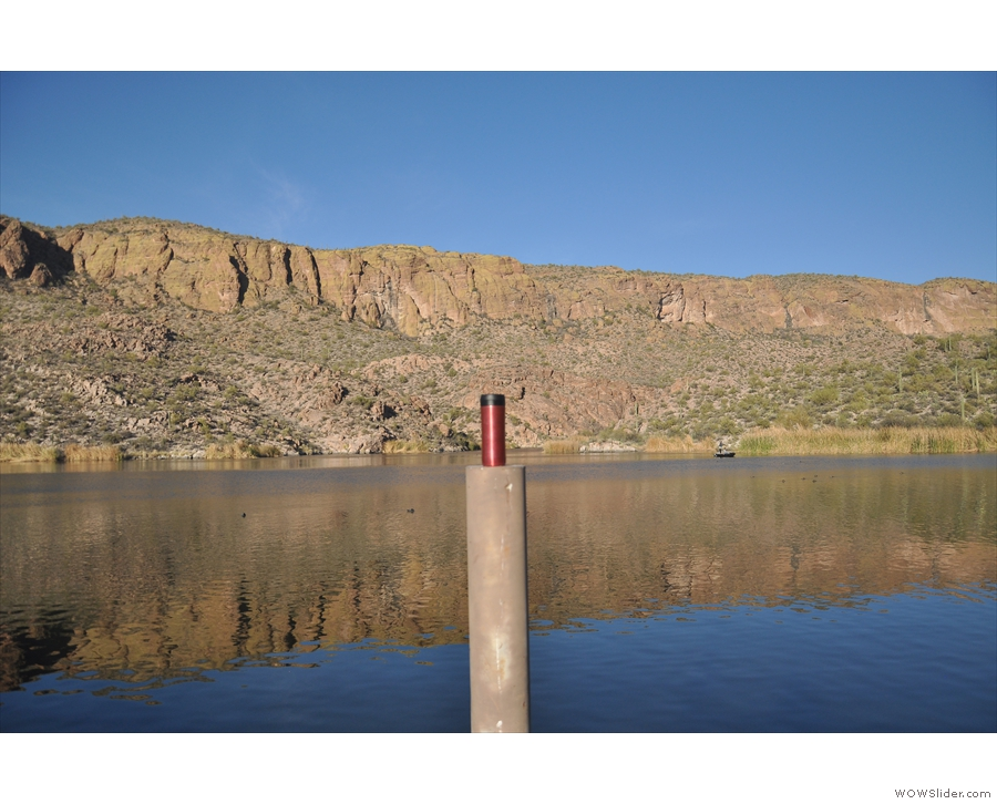 ... with the reflection of the cliffs in the lake, even if it does give the game away!