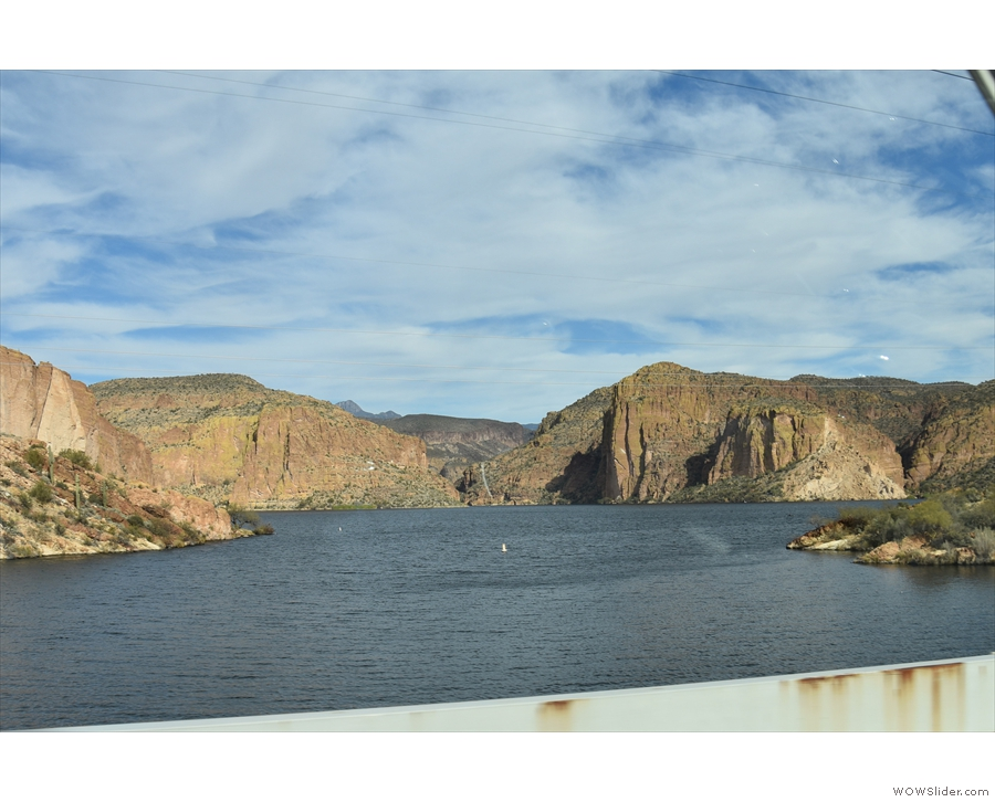... quiet, so I was able to stop for this cheeky picture looking down the Salt River opposite.