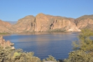 The north shore of the lake in more detail. The Salt River flows in at top left.