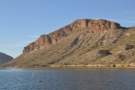I was fascinated by the cliffs on the far side of the lake.