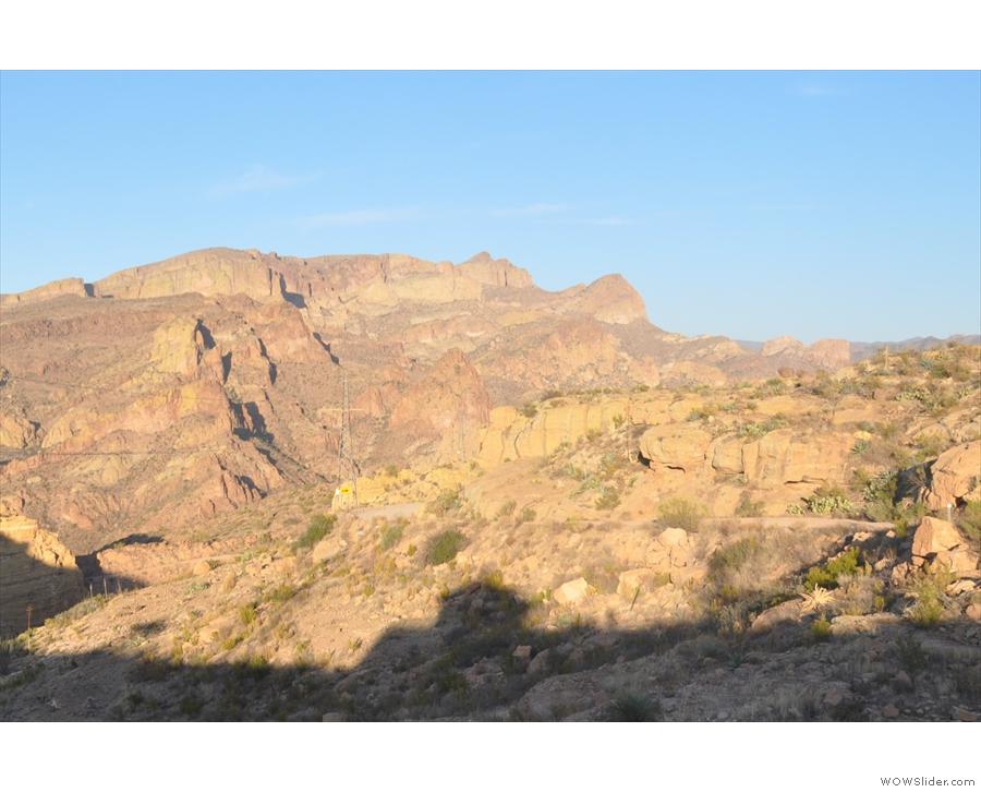 ... as it snakes its way down into the canyon (which is down there, but out of shot).