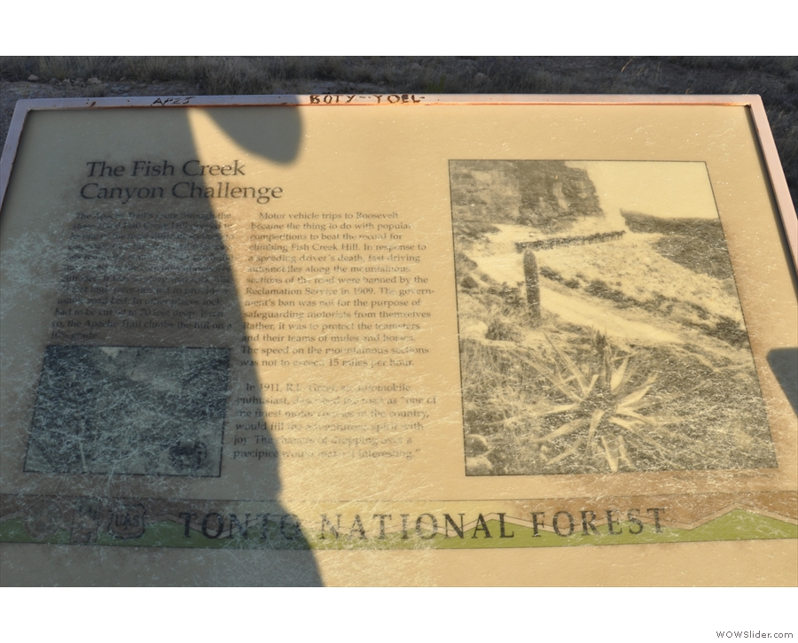... with another information board, with more details about Fish Creek Canyon.