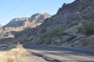The Apache Trail as it heads east from Canyon Lake.