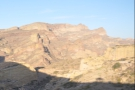 The road in foreground (on the right) is descending into the canyon, while in the distance...