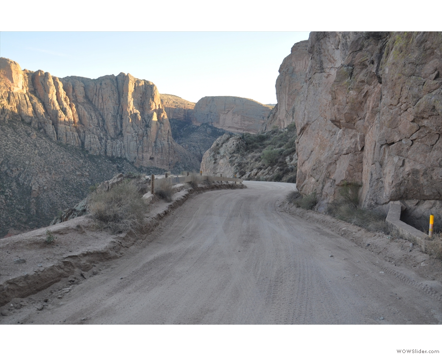 The scary descent down the Apache Trail into Fish Creek Canyon...