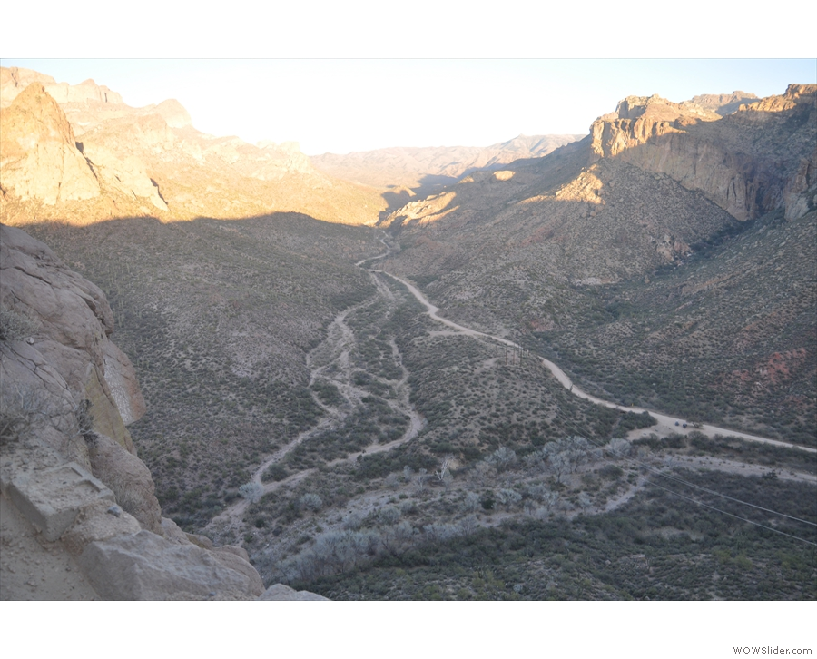 ... a glimpse of, looking east along the bottom of a side valley that joins Fish Creek Canyon.