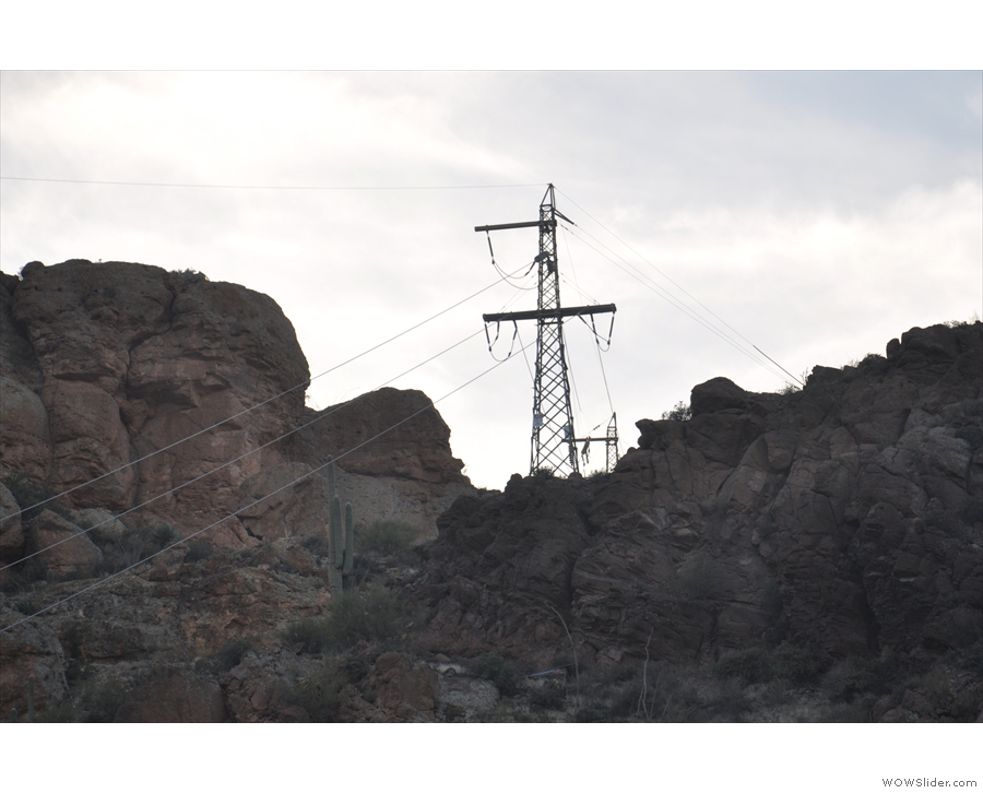 If you noticed the power lines at various points along the way, they are still with us.