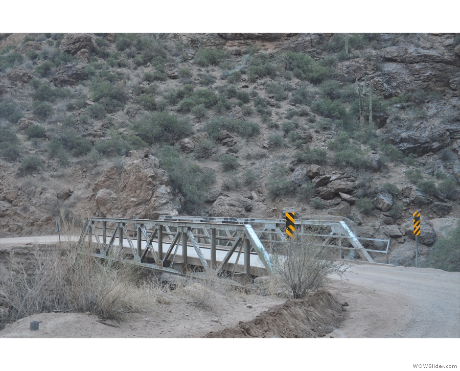 ... as the road crosses Fish Creek on this sturdy bridge. I'd have loved to have stopped...